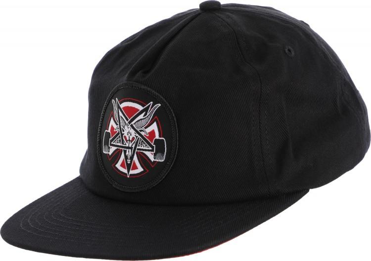 Кепка Independent x Thrasher Pentagram Cross Adjustable Snapback Hat Black, Китай  - купить со скидкой