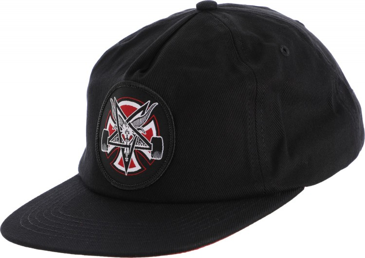 Купить Кепка Independent x Thrasher Pentagram Cross Adjustable Snapback Hat Black, Китай