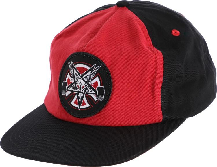 Купить Кепка Independent x Thrasher Pentagram Cross Adjustable Snapback Hat Cardinal/Black, Китай