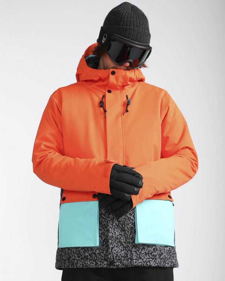 7ca9a9465feb Куртка для сноуборда мужская BILLABONG Fifty 50 Puffin Orange ...