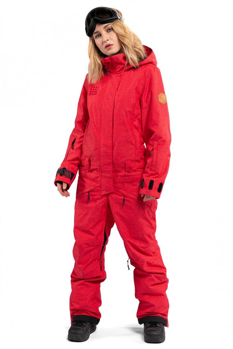 Купить Комбинезон женский COOL ZONE Twin One Color Denim Красный Джинс, Россия