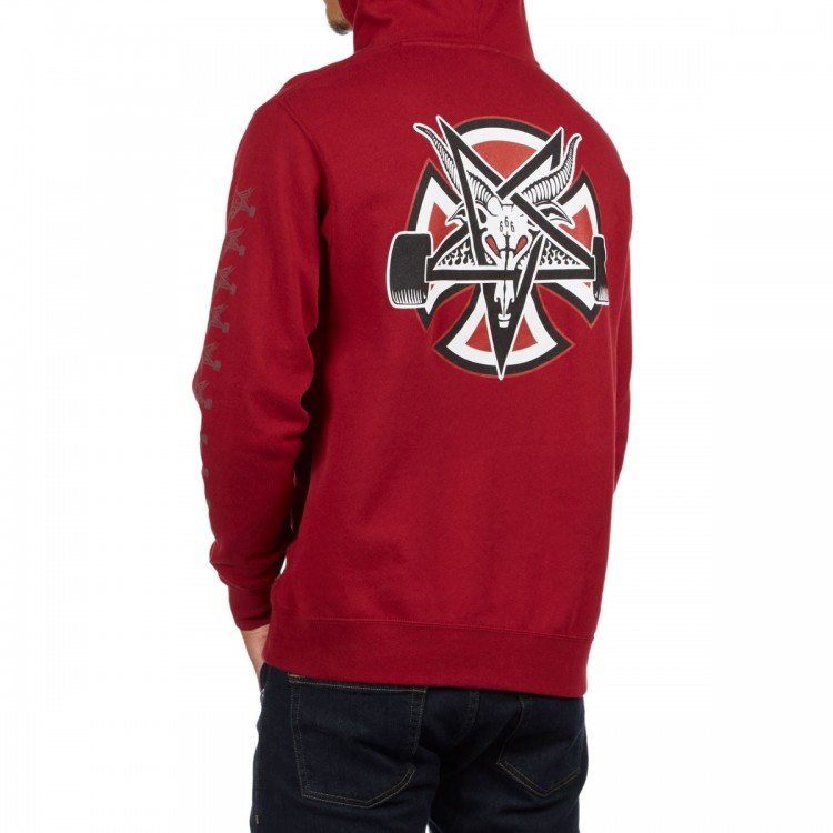 Купить Худи мужское Independent x Thrasher Pentagram Cross Pullover Hooded Garnet, Китай