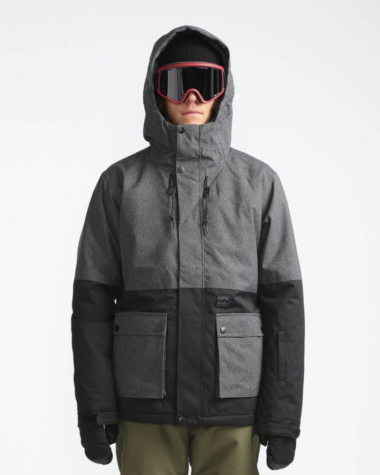 Куртка сноубордическая мужская BILLABONG Fifty 50 Asphalt Heather, Китай  - купить со скидкой