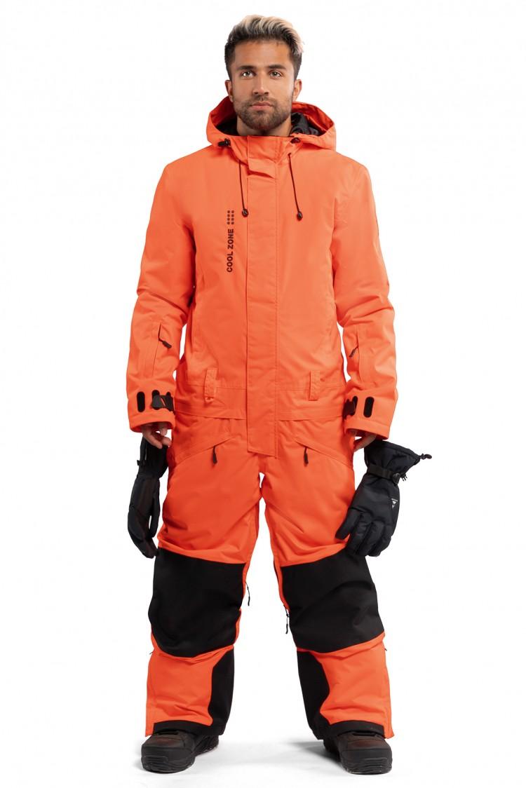Купить Комбинезон мужской COOL ZONE Snowman Оранжевый, Россия
