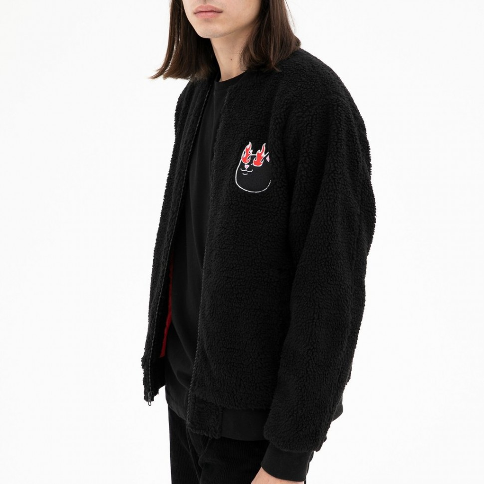 Куртка-бомбер RIPNDIP Ignite Sherpa Sweater Black 2020