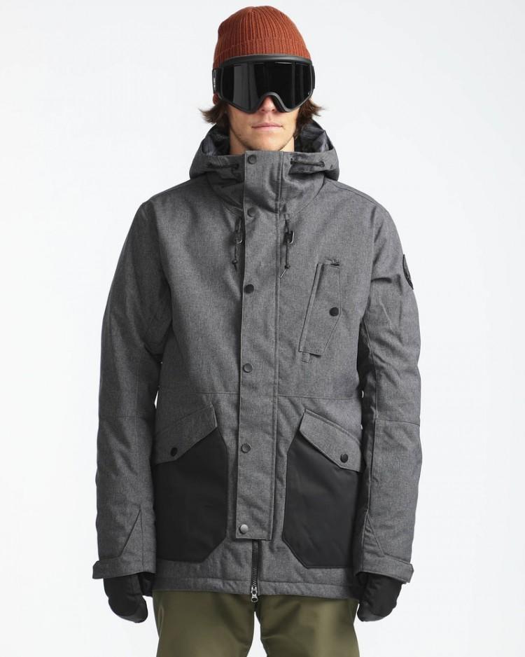 Купить Куртка для сноуборда мужская BILLABONG Adversary Asphalt Heather, Китай