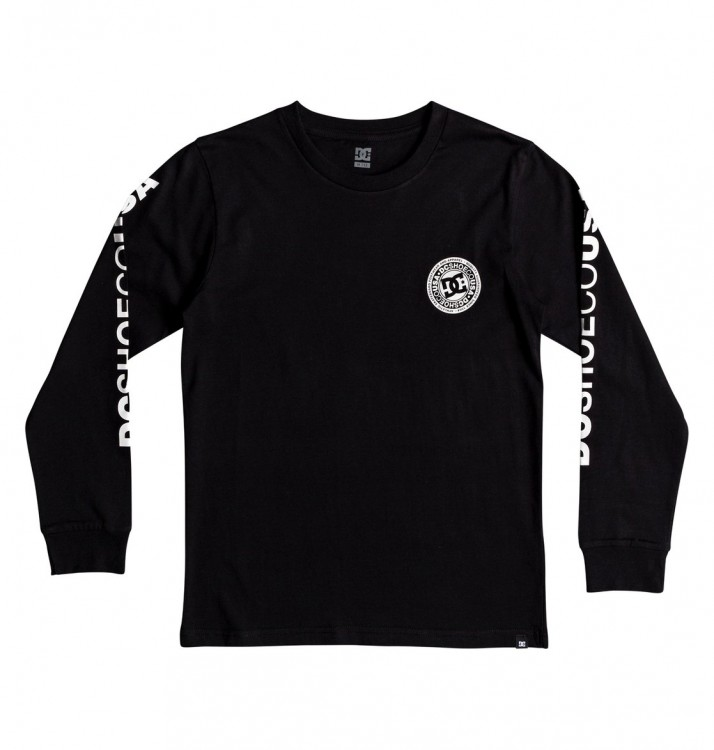 Фуфайка DC SHOES Circle Star Ls B Black, фото 1