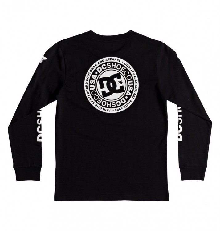 Фуфайка DC SHOES Circle Star Ls B Black, фото 2