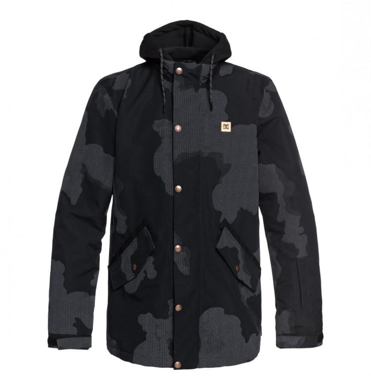 Купить Куртка для сноуборда мужская DC SHOES Union Se Jkt M Black Dcu Reflective Camo Men, Китай