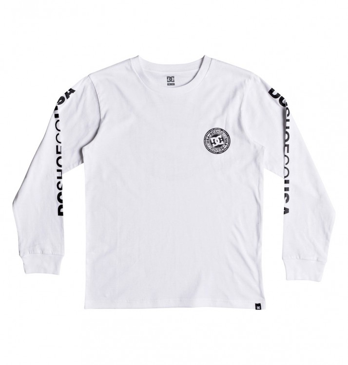Фуфайка DC SHOES Circle Star Ls B Snow White, фото 1