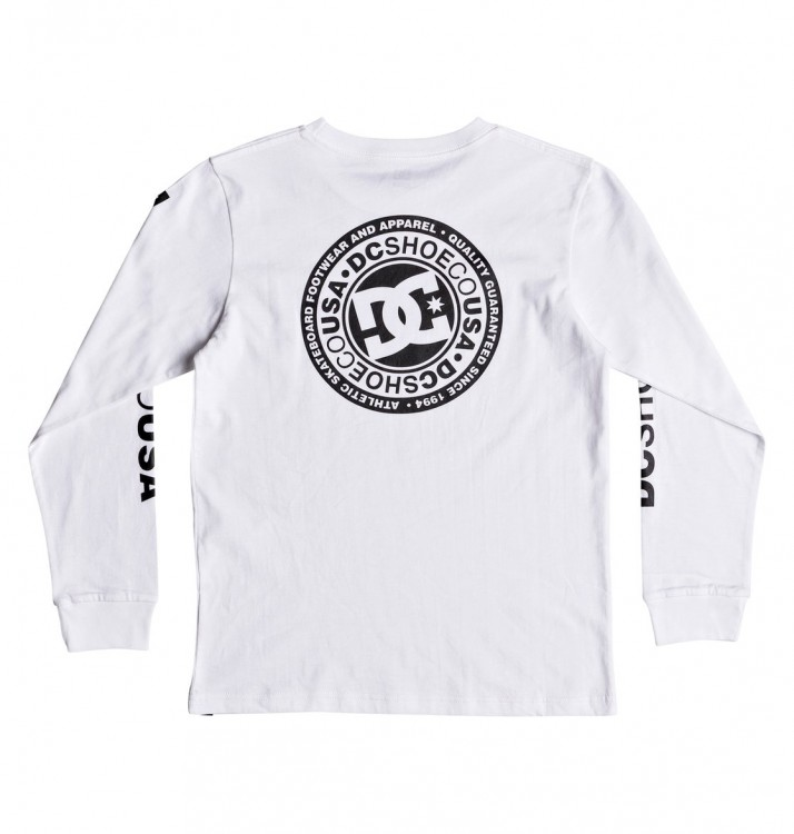 Фуфайка DC SHOES Circle Star Ls B Snow White, фото 2