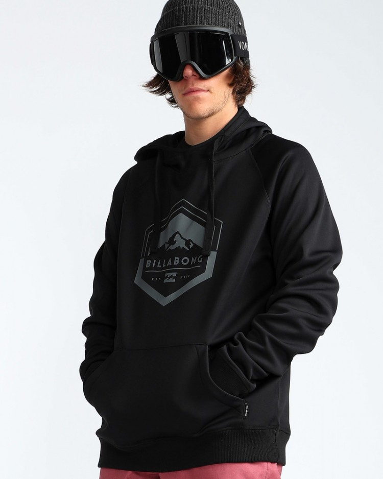Купить Худи мужской BILLABONG Downhill Hoodie Black Caviar, Китай