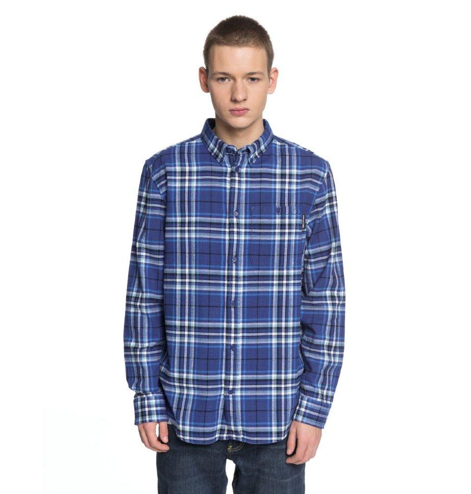 Рубашка мужская DC SHOES South Ferry Ls M Sodalite Blue