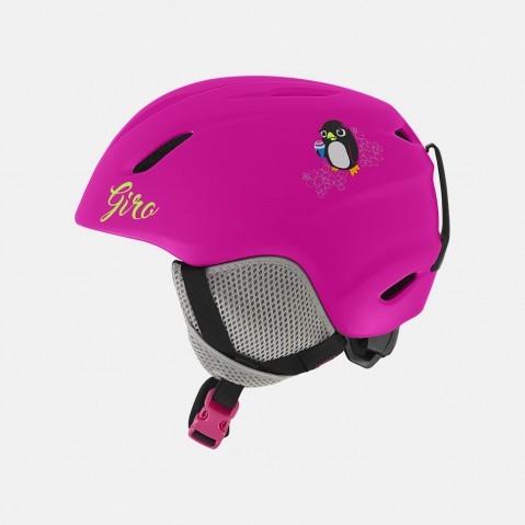 Шлем горнолыжный детский GIRO Launch Matte Bright Pink Penguin