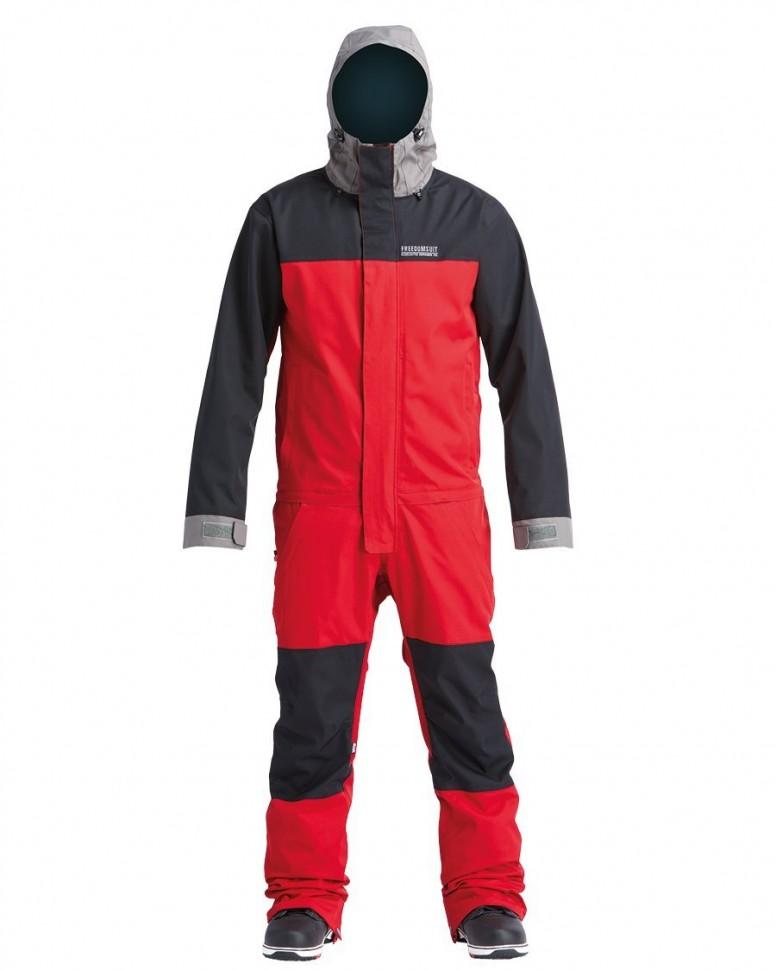 Комбинезон для сноуборда мужской AIRBLASTER Stretch Freedom Suit Dark Red Pewter 2020