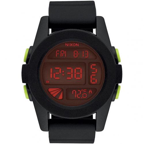 Часы NIXON Unit A/S All Black/Red
