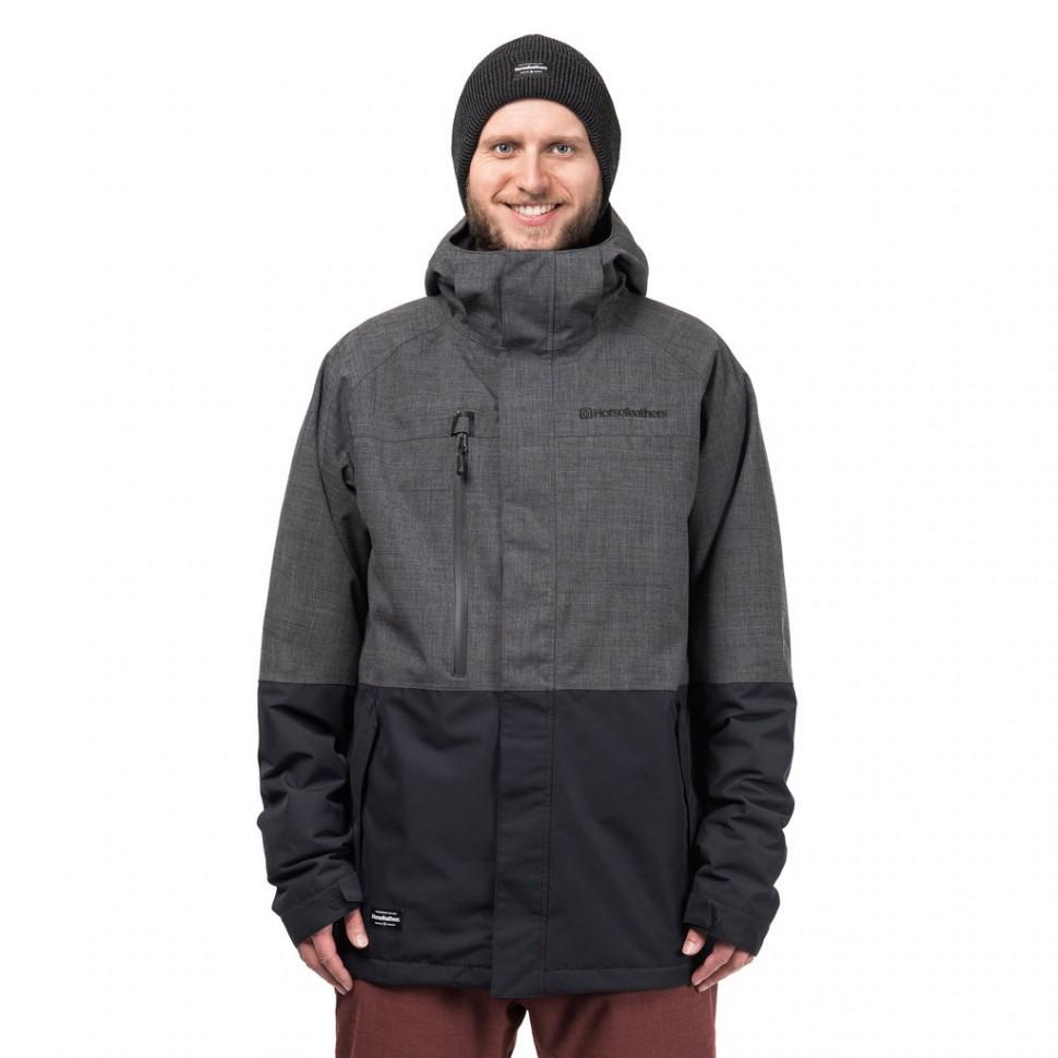 Купить со скидкой Куртка для сноуборда мужская HORSEFEATHERS M Prowler Jacket Shadow Melange