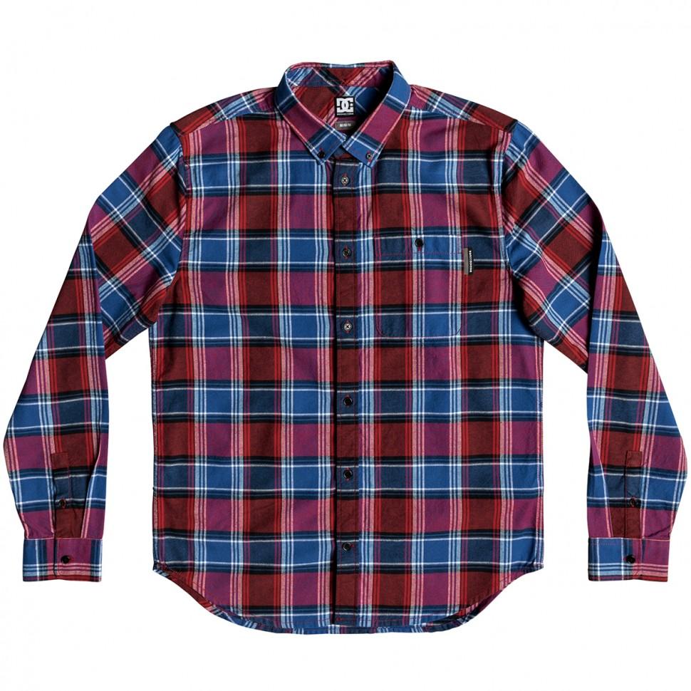Купить со скидкой Рубашка DC SHOES Northboat Ls M Wvtp Racing Red