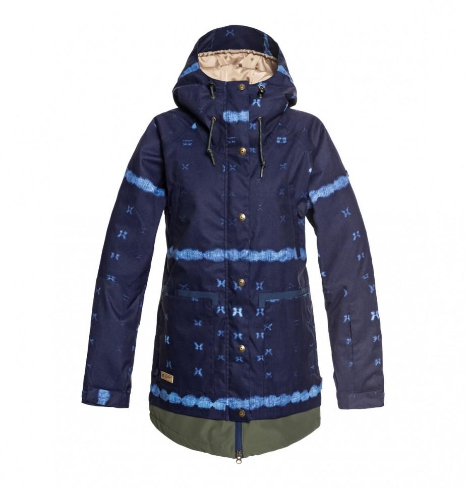 Фото #1: Куртка для сноуборда женская DC SHOES Riji Jkt J Dark Blue Mud Cloth B