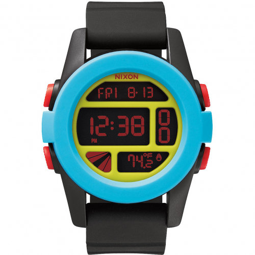 Часы NIXON Unit A/S Black/Blue/Chartreuse