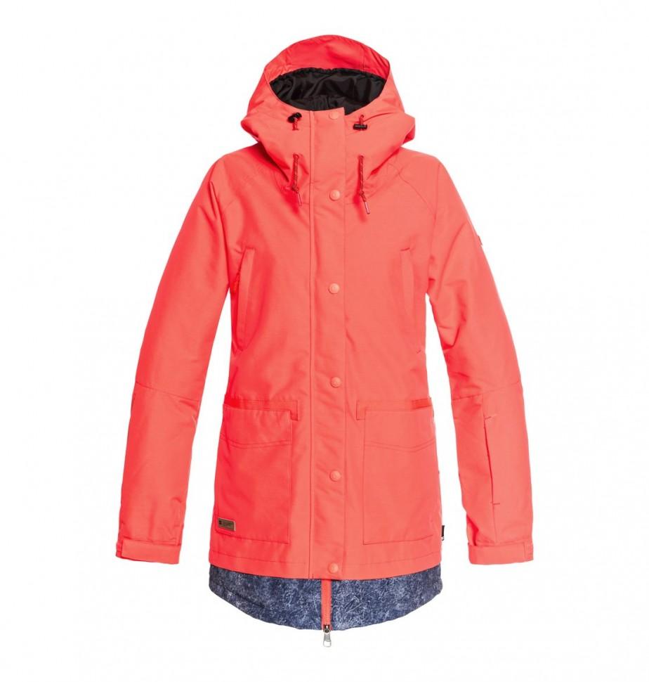 Купить со скидкой Куртка для сноуборда женская DC SHOES Riji Jkt J Fiery Coral