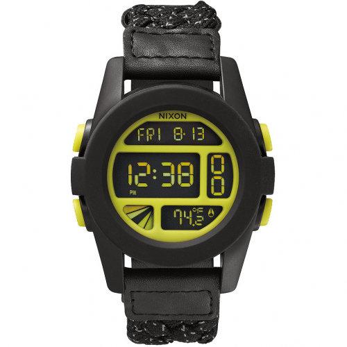 Часы NIXON Unit A/S Black/Reflective Woven