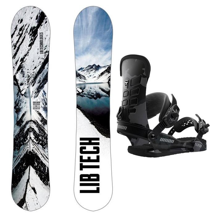 Купить со скидкой Комплект сноуборда мужской LIB TECH Coldbrew+Union Str Black/Camo