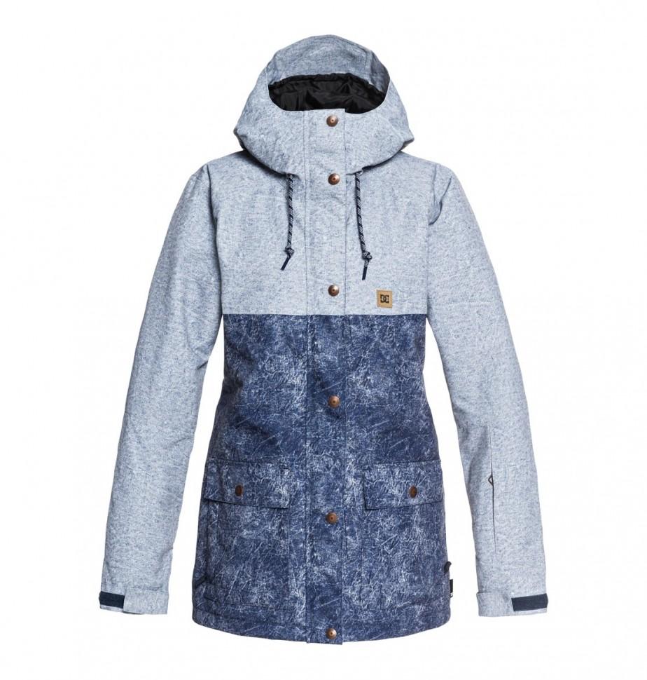 Куртка для сноуборда женская DC SHOES Cruiser Jkt J Dark Blue Acid Wash Denim A