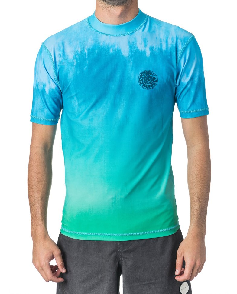 Лайкра RIP CURL Corpo Faded Uv Tee Aqua