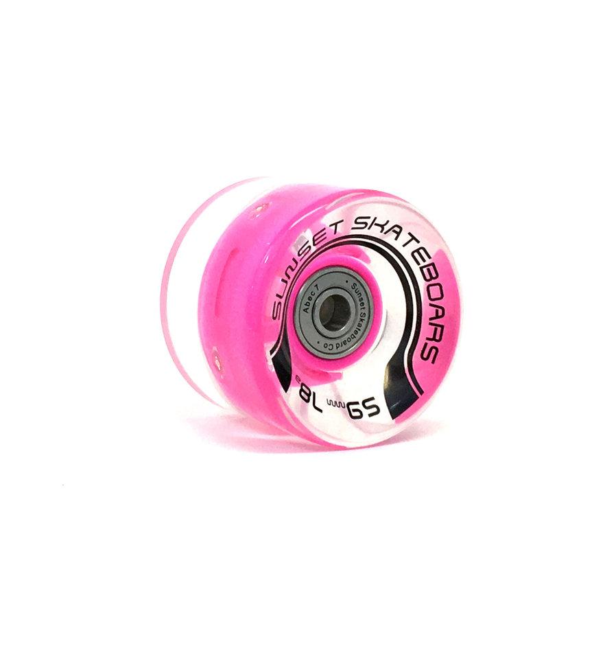 Колеса для лонгборда SUNSET SKATEBOARDS Long Board Wheel With Abec9 SS Pink 65 mm