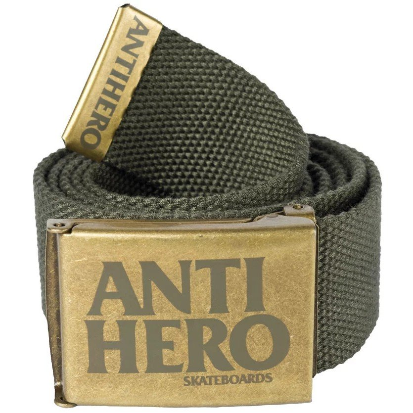 Купить со скидкой Ремень ANTI-HERO Belt Blk Hero Web Bras/Agrn