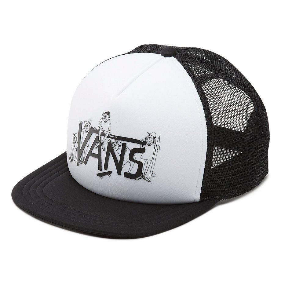 Купить со скидкой Кепи с козырьком VANS Mn Shaper Gang Truck White/Black