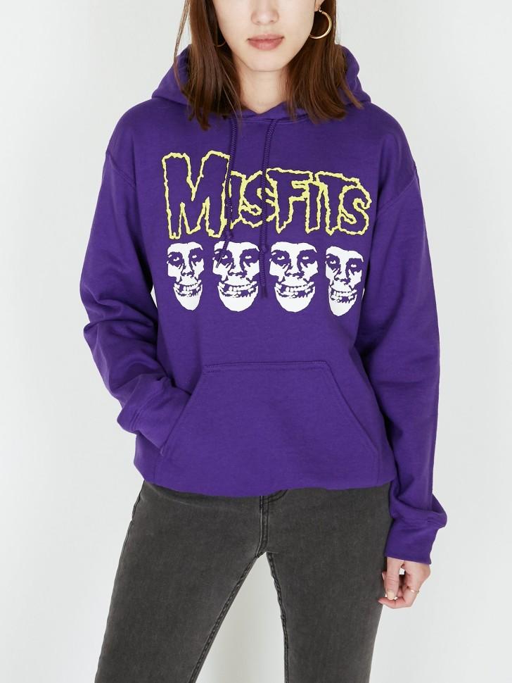 Худи женское OBEYxMISFITS Fiend Skulls Purple фото