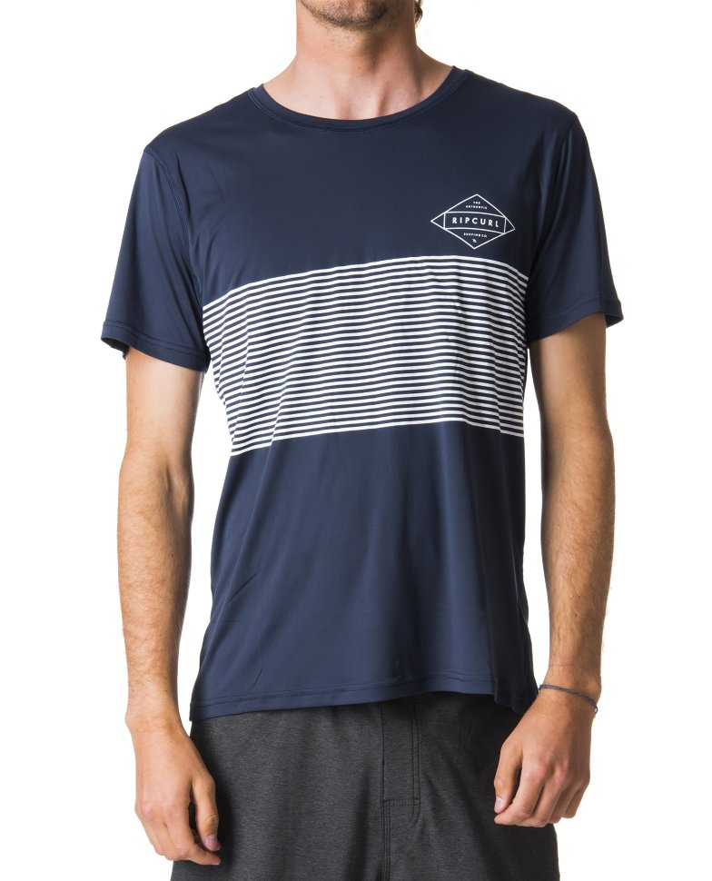 Гидромайка RIP CURL Linear Surflite Uv Tee Navy