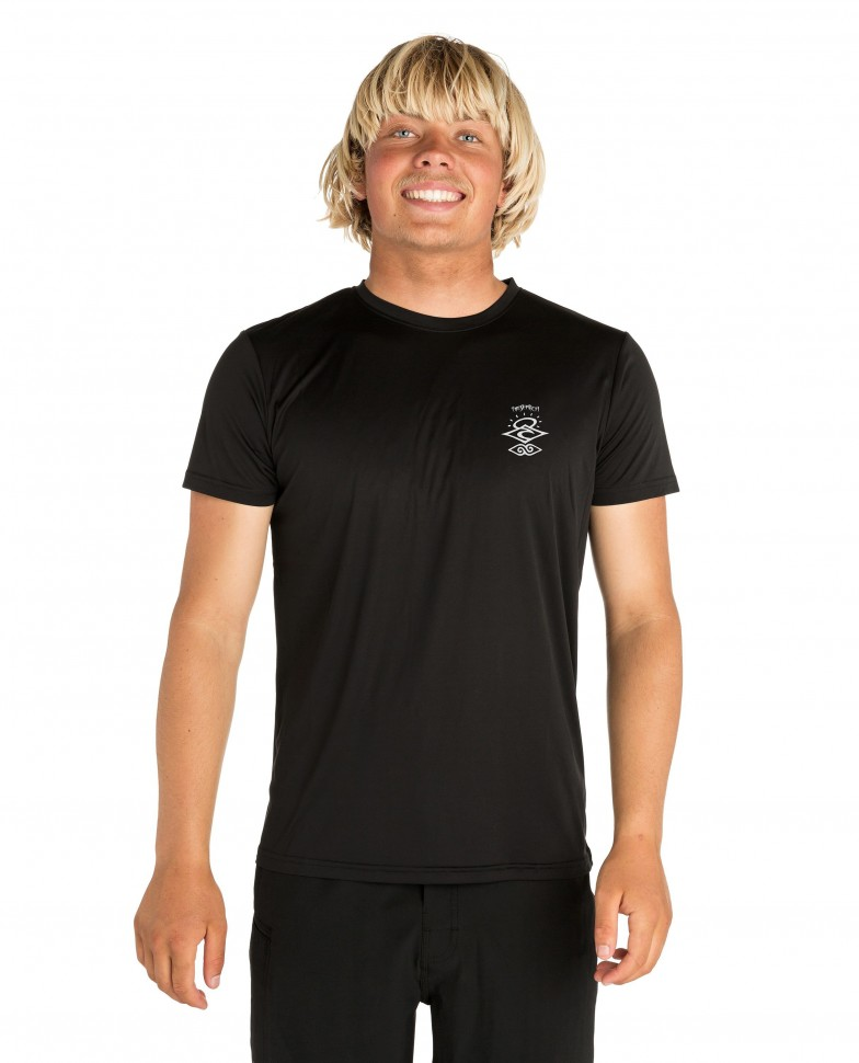 Лайкра RIP CURL Search Logo S/Sl Uv Tee Black