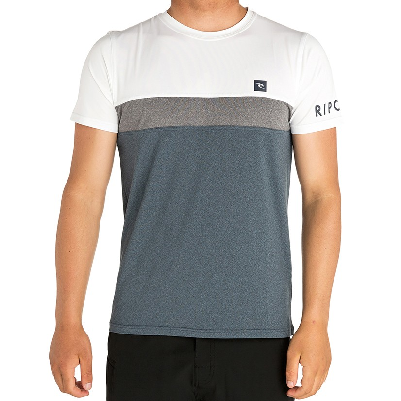 Лайкра RIP CURL Underline Panel S/Sl Uvt White/Navy