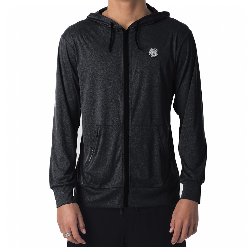 Лайкра с капюшоном RIP CURL Search Surflite Hood Black Marle