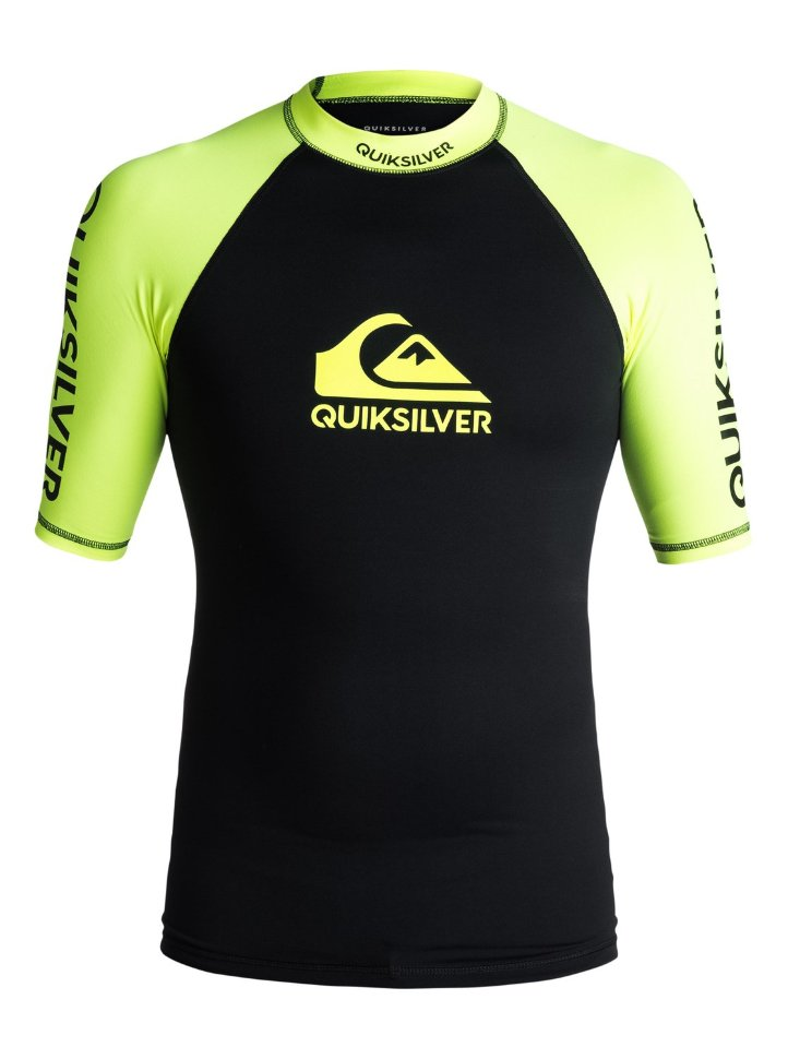 Гидрофутболка мужская QUIKSILVER On Tour Ss M Safety Yellow/ Black