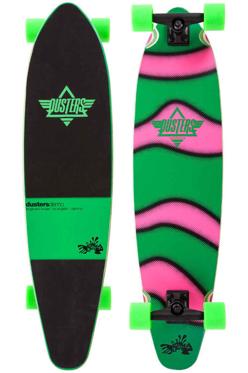 Лонгборд комплект DUSTERS Demo Longboard GITD Green/Pink 38 дюйм фото