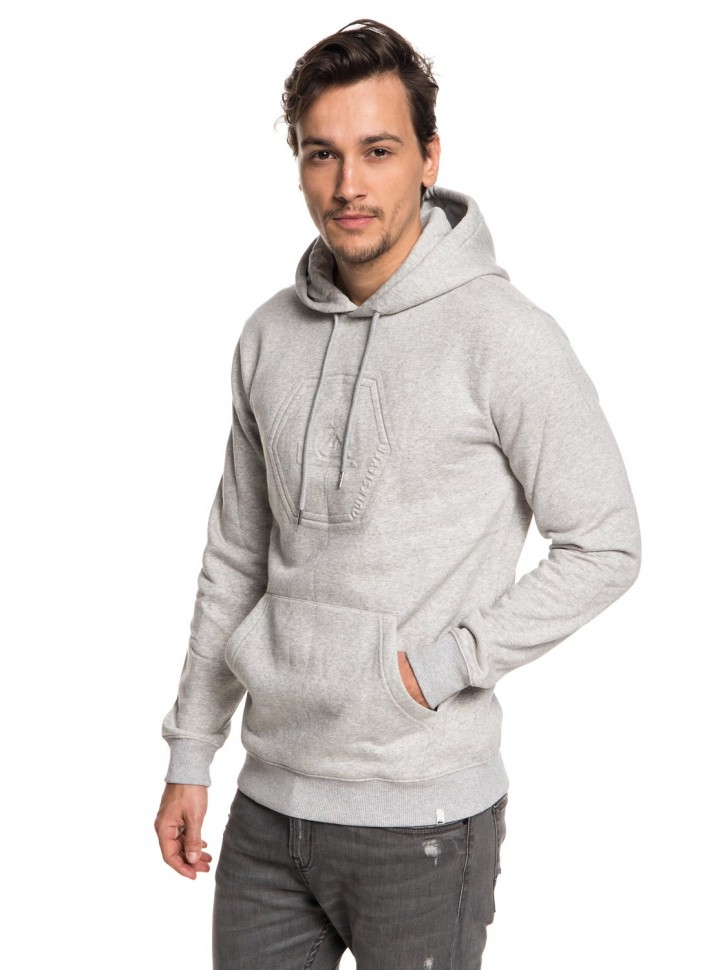 Джемпер QUIKSILVER Swellembosshood M Light Grey Heather фото