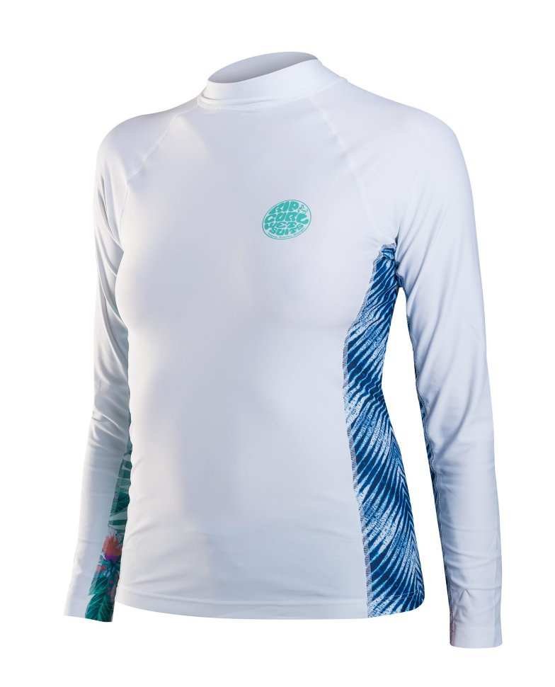 Гидромайка RIP CURL Womens All Over L/Sl White