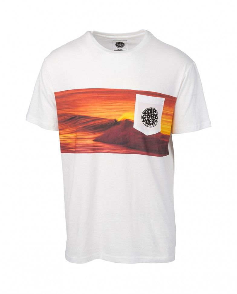 Футболка RIP CURL Action Original Ss Tee White