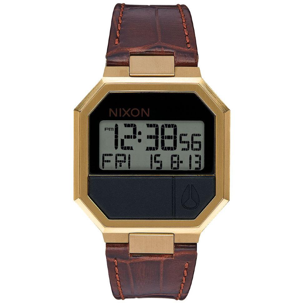 Часы NIXON Re-Run Leather A/S Brown Croc