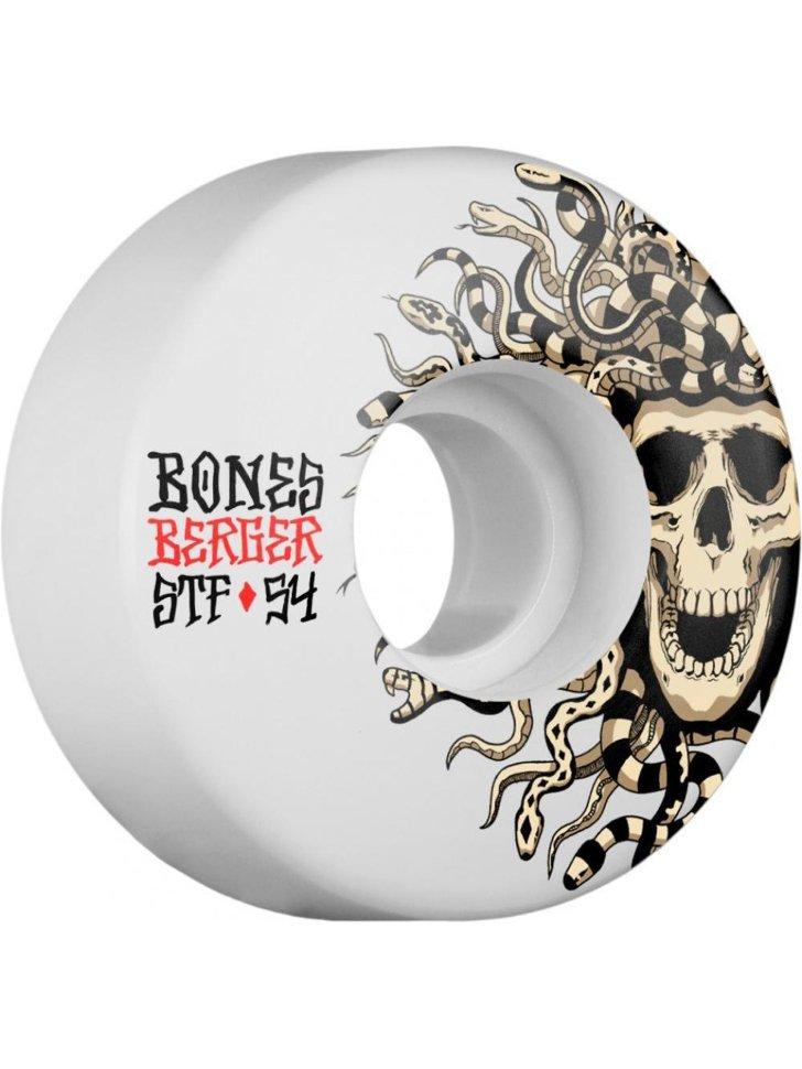 Купить со скидкой Колеса для скейтборда BONES Berger Medusa White 54 mm