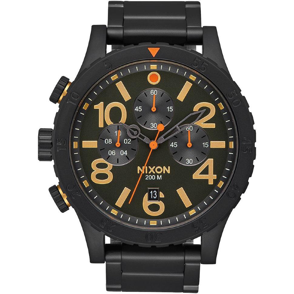 Часы NIXON 48-20 Chrono A/S All Black/Surplus