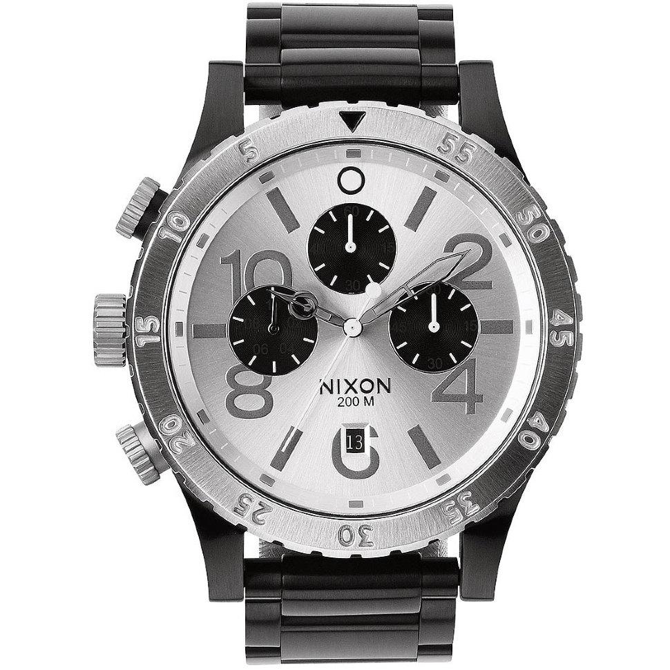 Часы NIXON 48-20 Chrono A/S Black/Silver