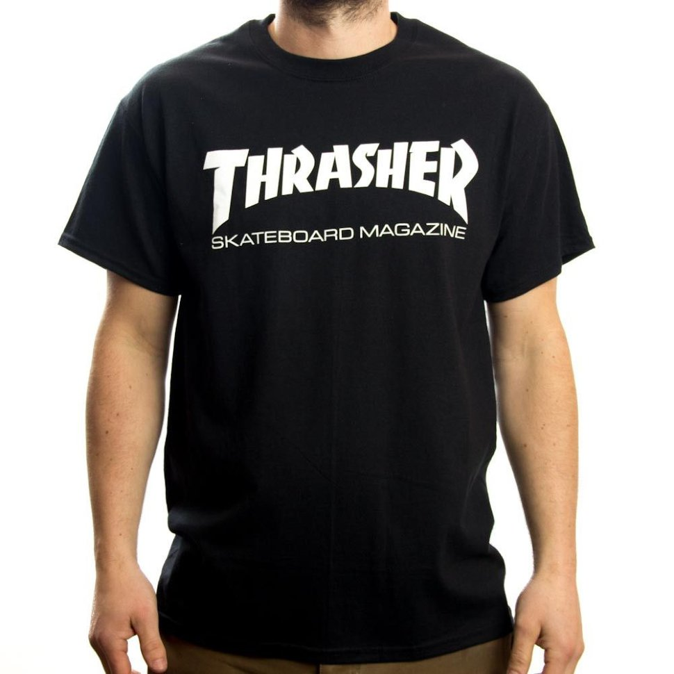 Футболка Thrasher Skate Mag Black  фото