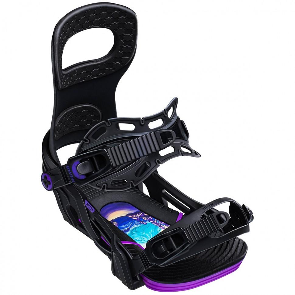 Крепления для сноуборда мужские BENT METAL Metta Black 2020