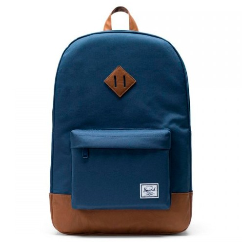 Рюкзак HERSCHEL Heritage Navy/Tan Synthetic Leather 21.5L