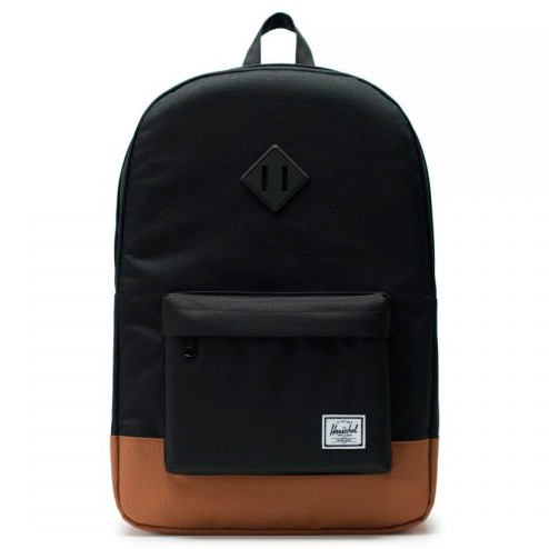 Рюкзак HERSCHEL Heritage Black/Saddle Brown 21.5L  фото